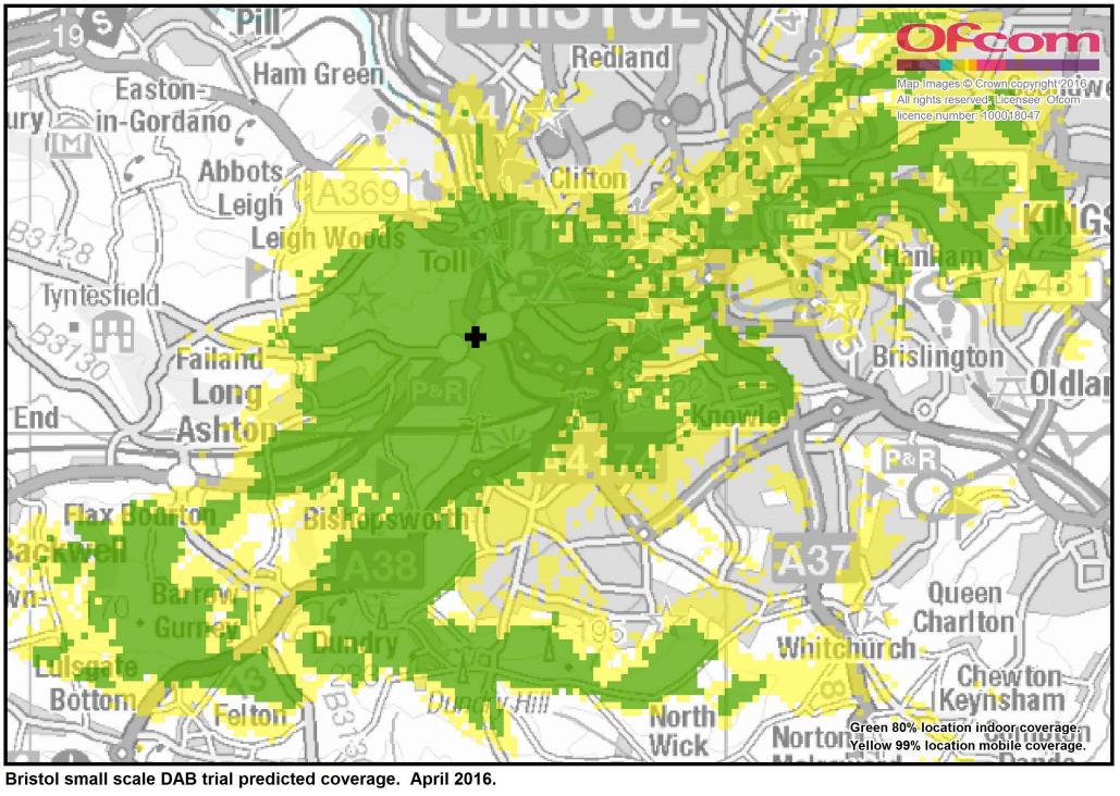 Bristol Digital Radio coverage map